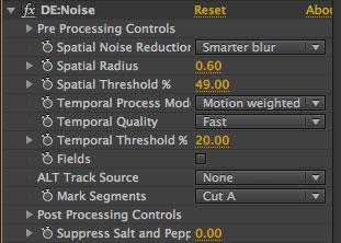 Re:vision De:noise interface