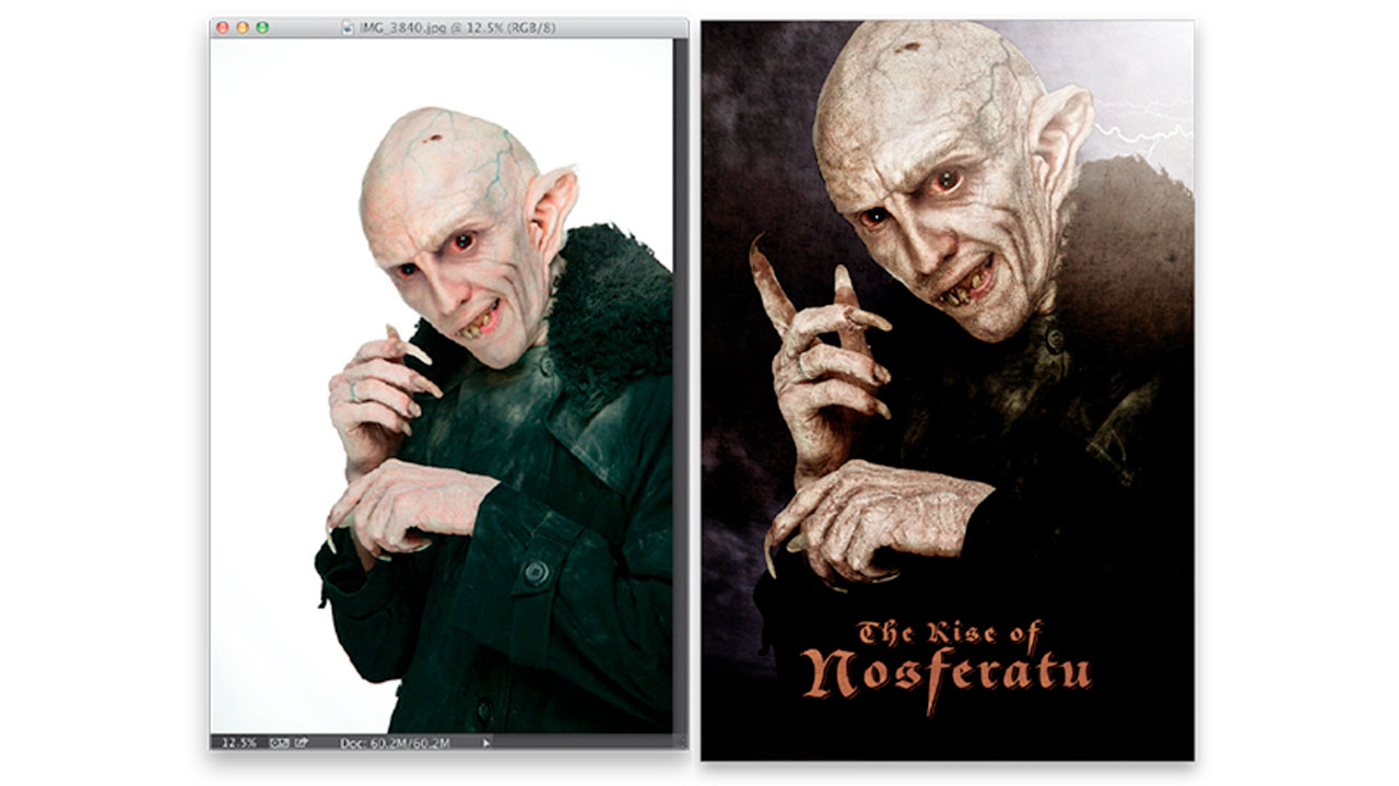 nosferatu composite photoshop tutorial