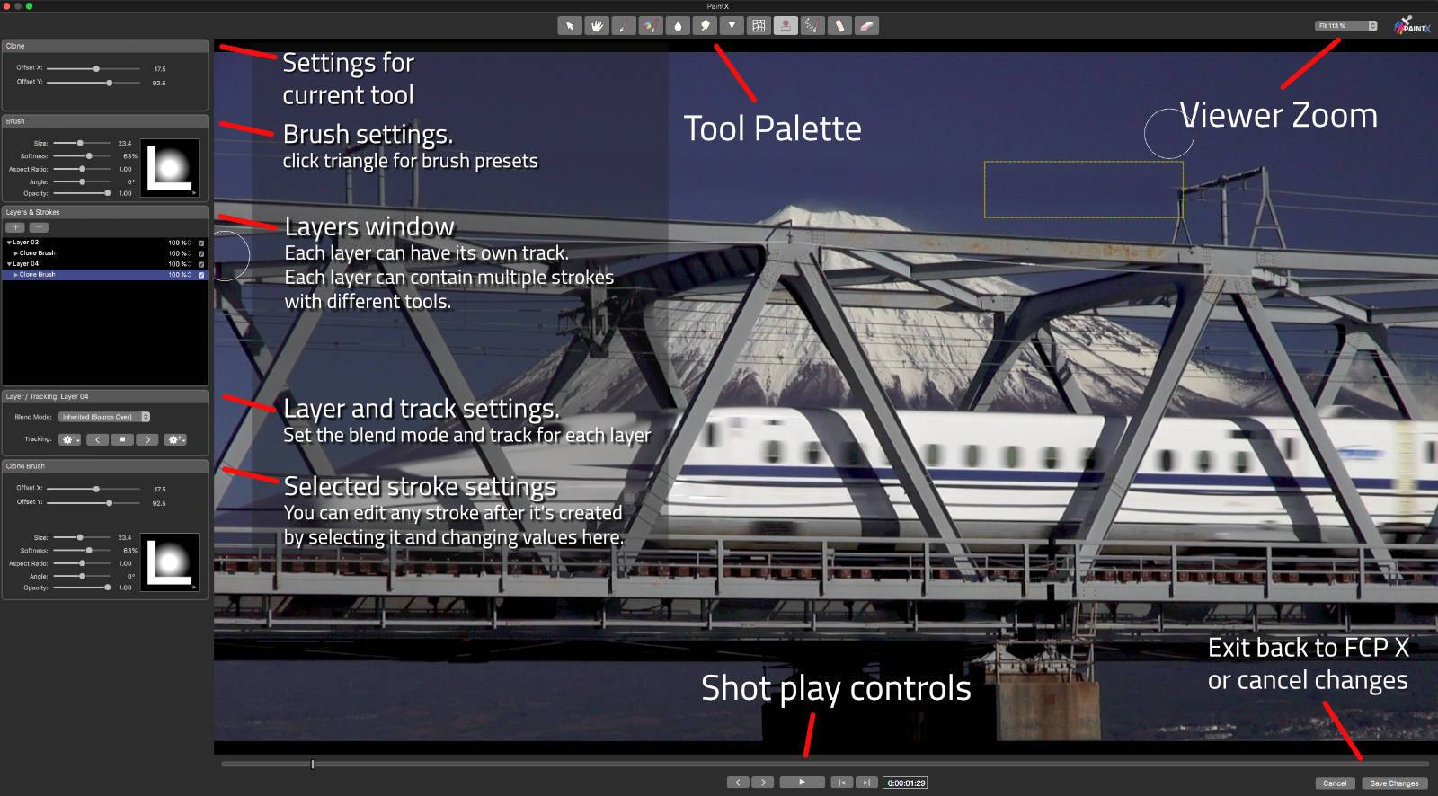 PaintX Interface