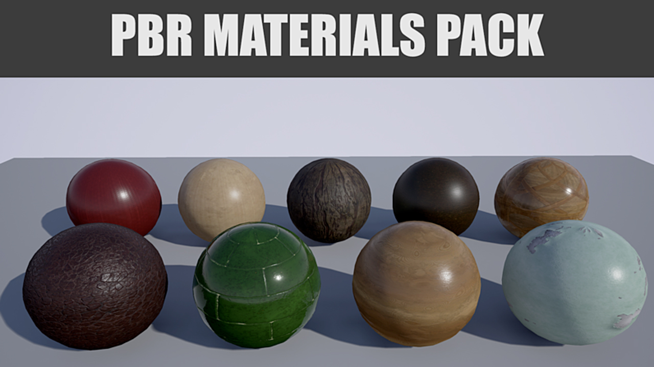 Freebie: Free PBR Materials for Substance, Unity, Unreal