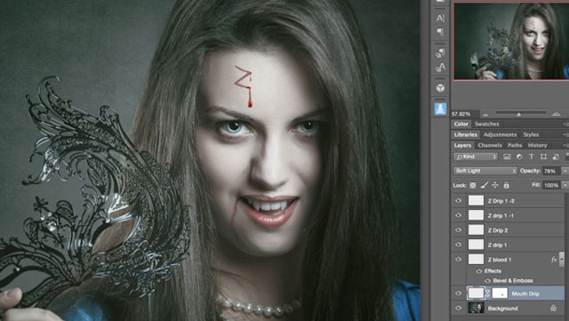 draw blood photoshop tutorial