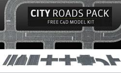 Freebie Friday: Pixel Lab City Roads Pack, Free C4D Model Kit