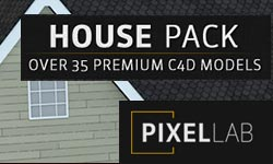 New: The Pixel Lab 3D House Pack - Over 35 C4D House Elements for $35