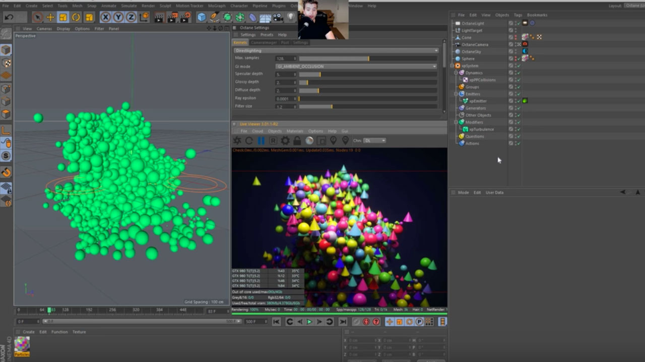 Tutorial: Working With Octane's Random Color Shader and X-Particles