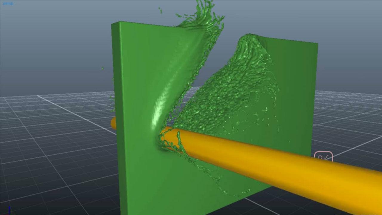 RealFlow Slicing through Liquids