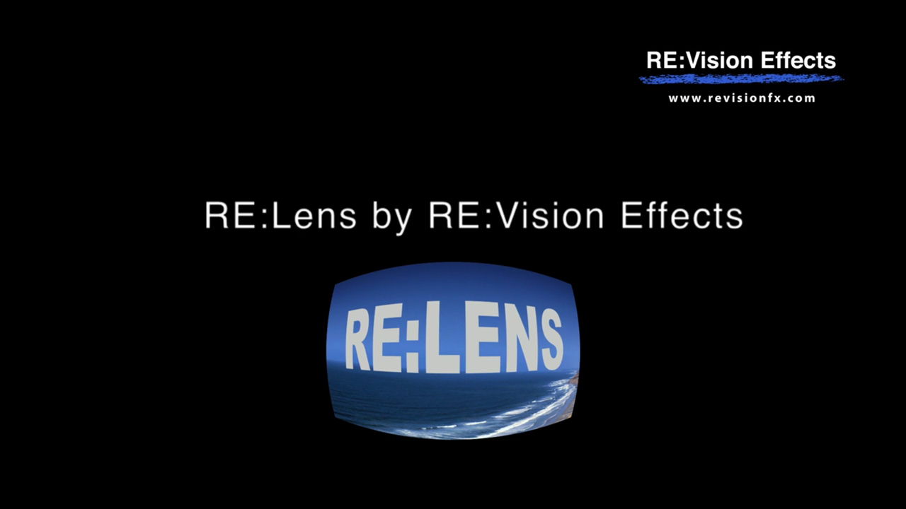 New: RE:Vision Effects RE:Lens 2 is Now Available