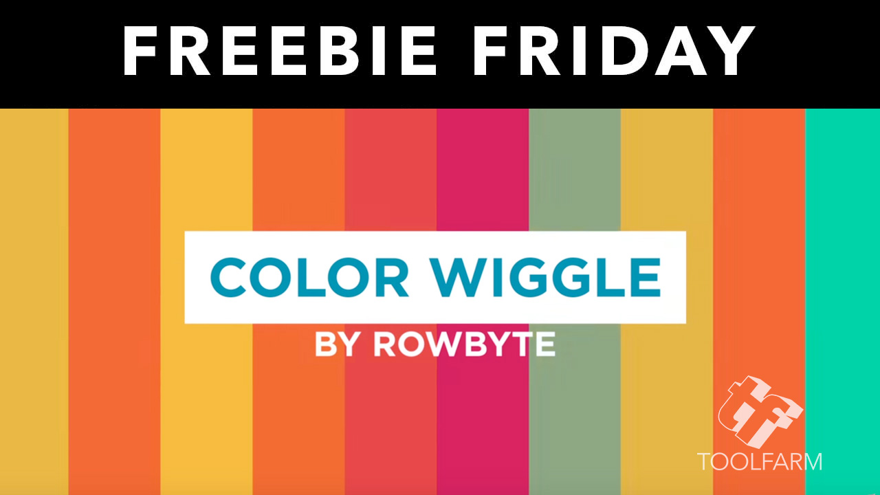 Freebie: After Effects: Rowbyte Color Wiggle - Have fun in AE with Wiggling Colors