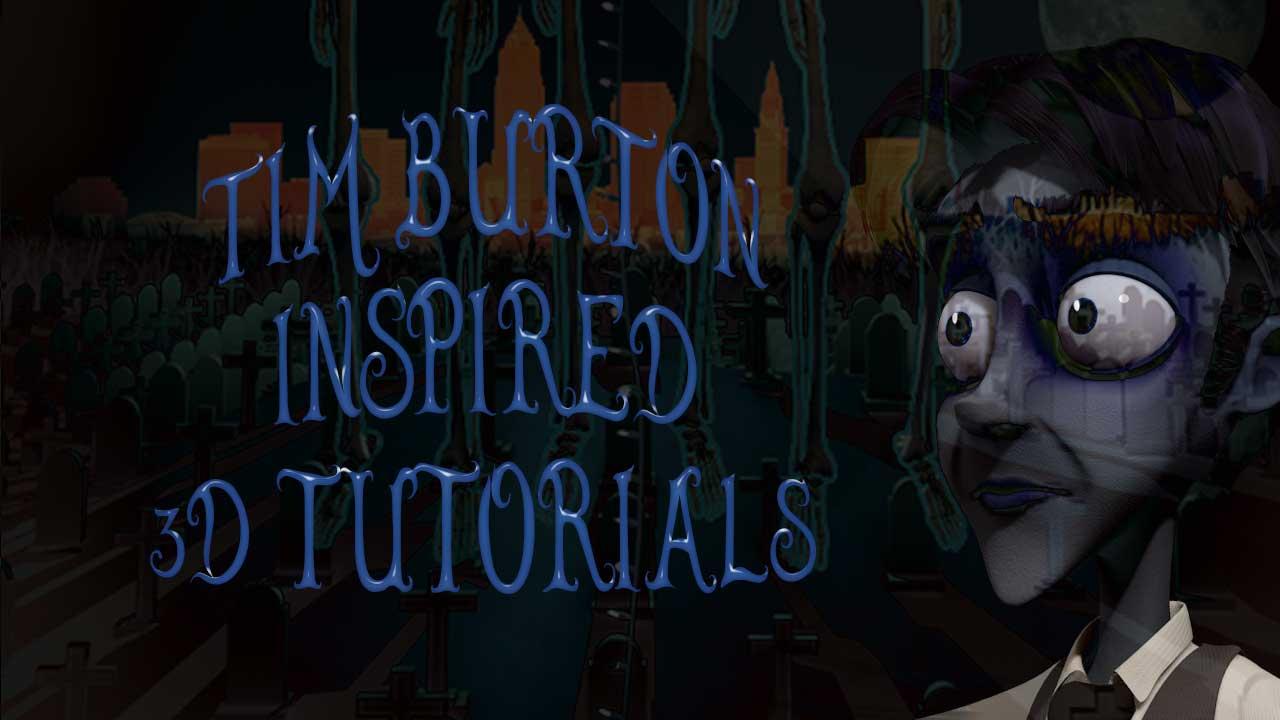 Tim Burton Style 3D Tutorials + Free Fonts - Toolfarm