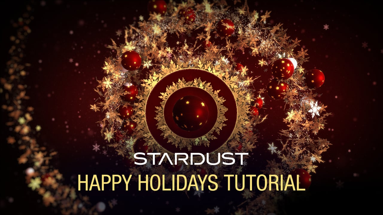 Happy Holidays using Stardust in After Effects
