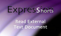 Tutorial: Expression Shorts - Read External Text Document