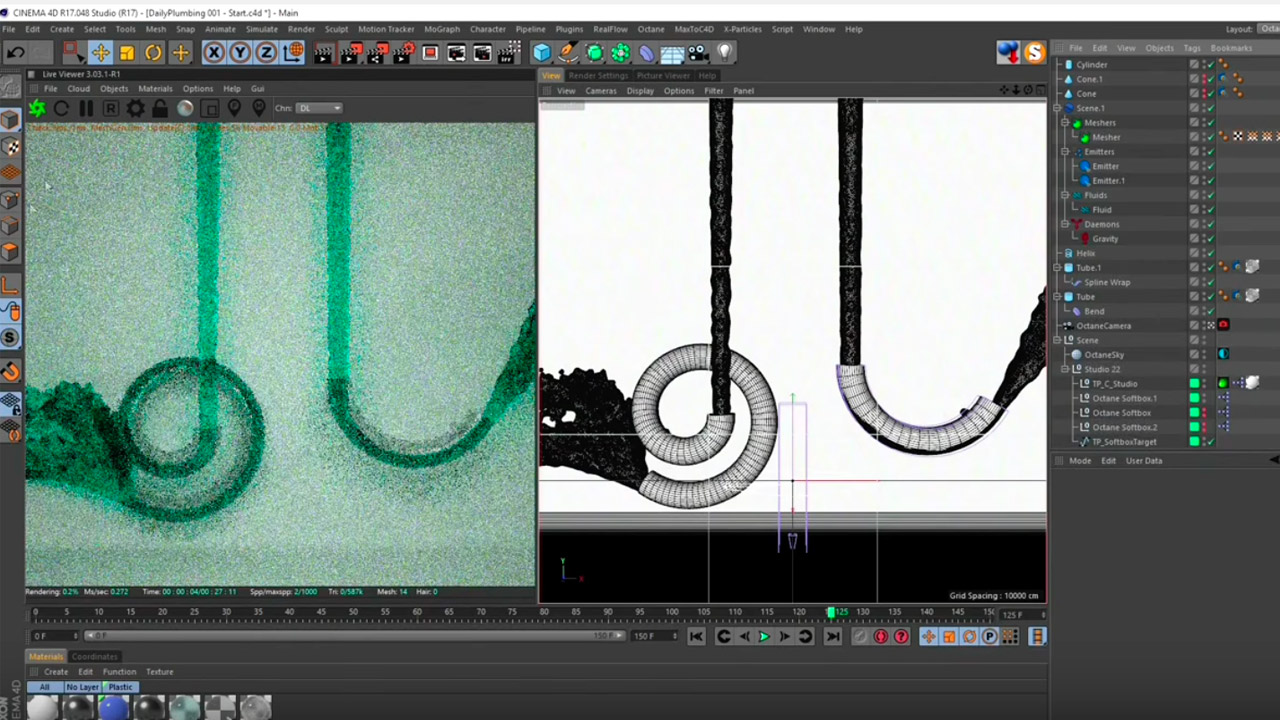 Tutorial: Plumbing with RealFlow for CINEMA 4D - Toolfarm