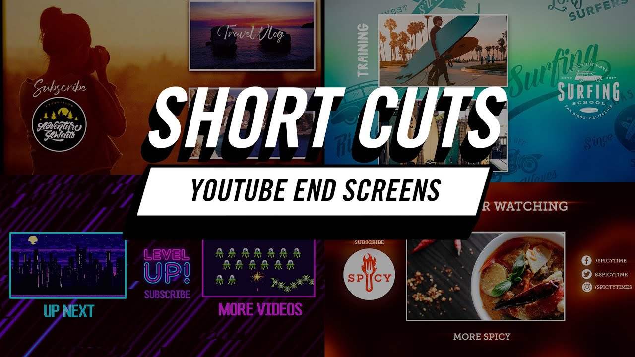 Tutorial: Short Cuts | How to Create Fast YouTube End Screens in Adobe Premiere Pro CC