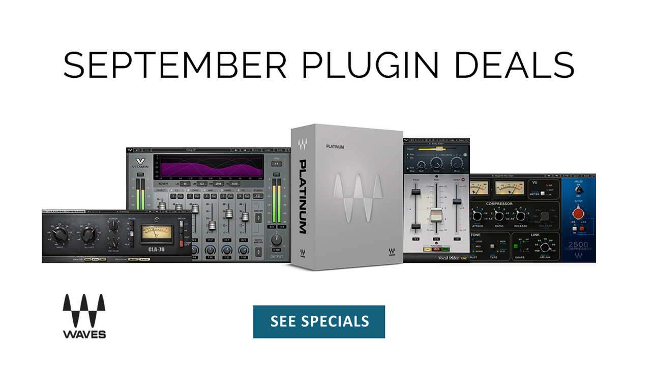 Sale: Waves Audio September Sale - Save up to 70% - Now
