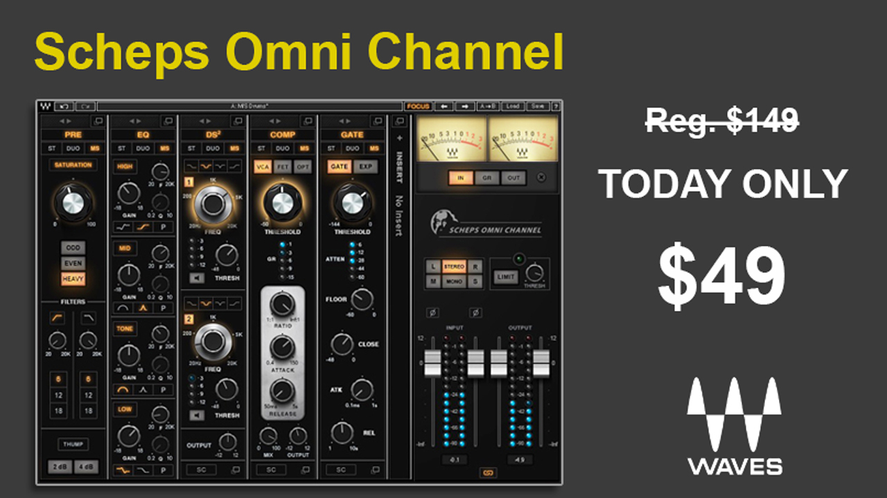 Sale: Waves Scheps Omni Channel Flash Sale - Today Only $49