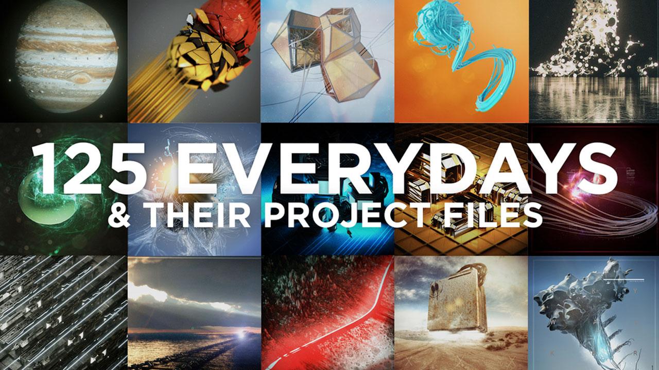 Freebie: CINEMA 4D 125 Everydays and Project Files - Toolfarm
