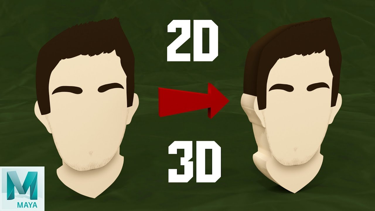 Turn a 2D Image into a 3D Mesh in Maya