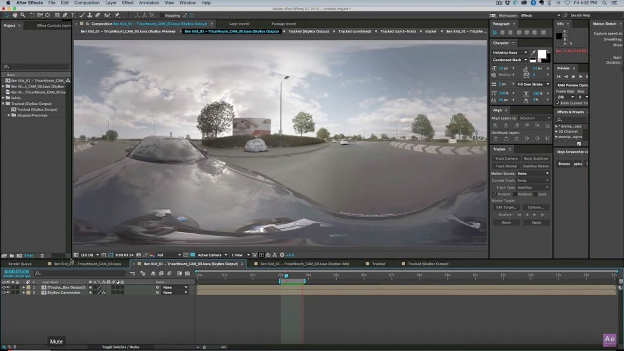 Camera Tracking 360 Footage in After Effects