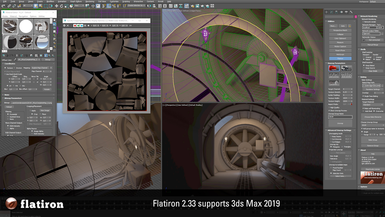 Update: 3d-io Flatiron 2.33 for 3ds Max- Now with Autodesk 3ds Max 2019 Support