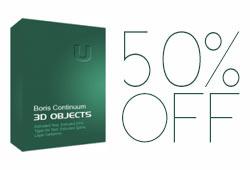Sale: 50% off Boris Continuum Complete 3D Objects