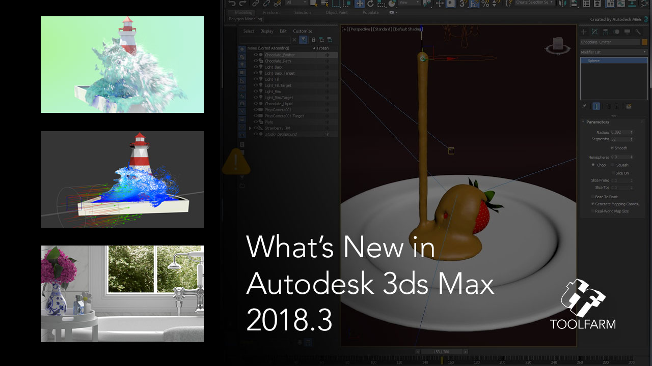 Update: What's New in Autodesk's 3ds Max 2018 Update 3 + Fluids Tutorials