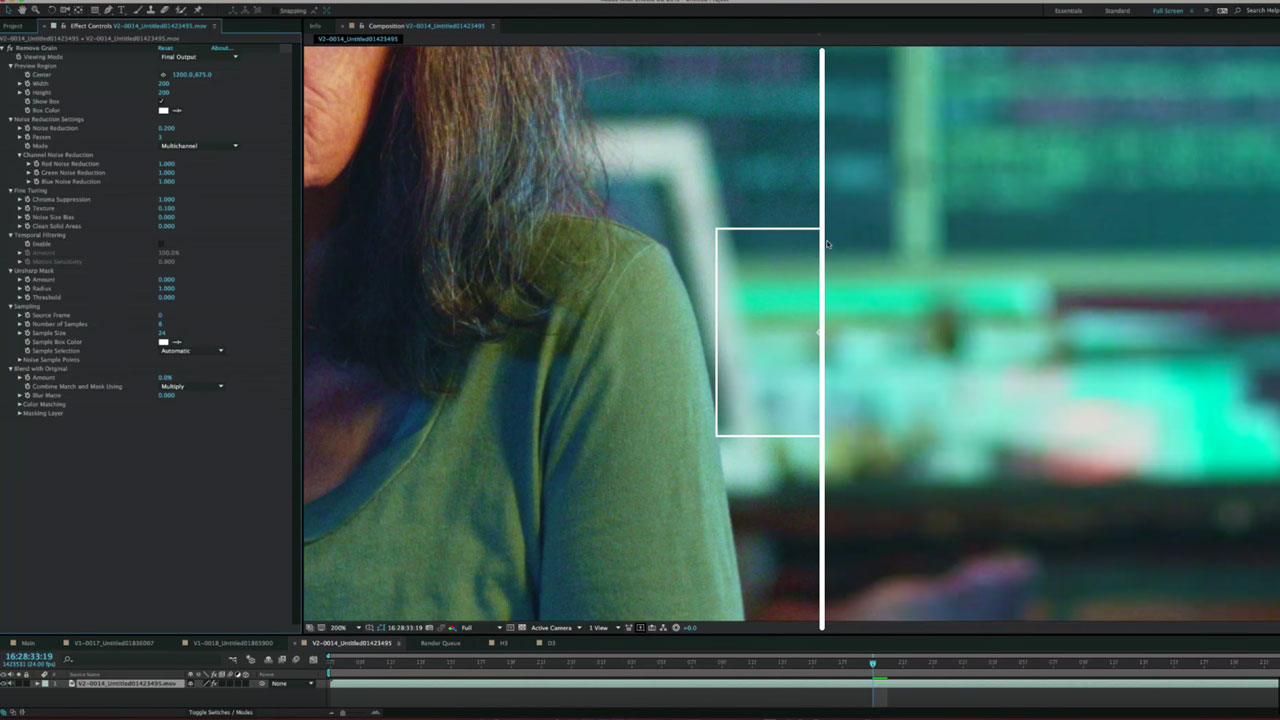 After Effects – How to Effectively Remove Video Noise and Film Grain