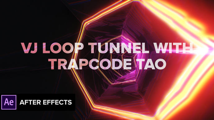 After Effects VJ Loop Tunnel with Trapcode Tao + Audio Sync
