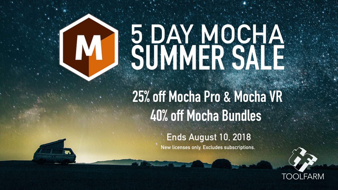 Sale: Boris FX 5 Day Mocha Summer Sale - Save up to 40%