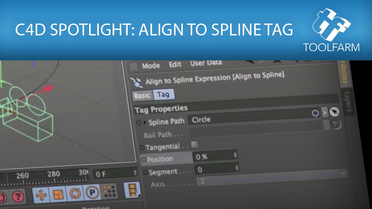C4D Spotlight: Align to Spline Tag - Toolfarm