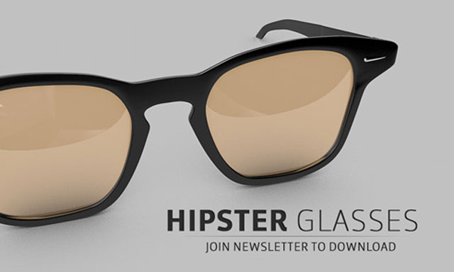 Freebie Friday: Hipster Glasses for MAXON Cinema 4D