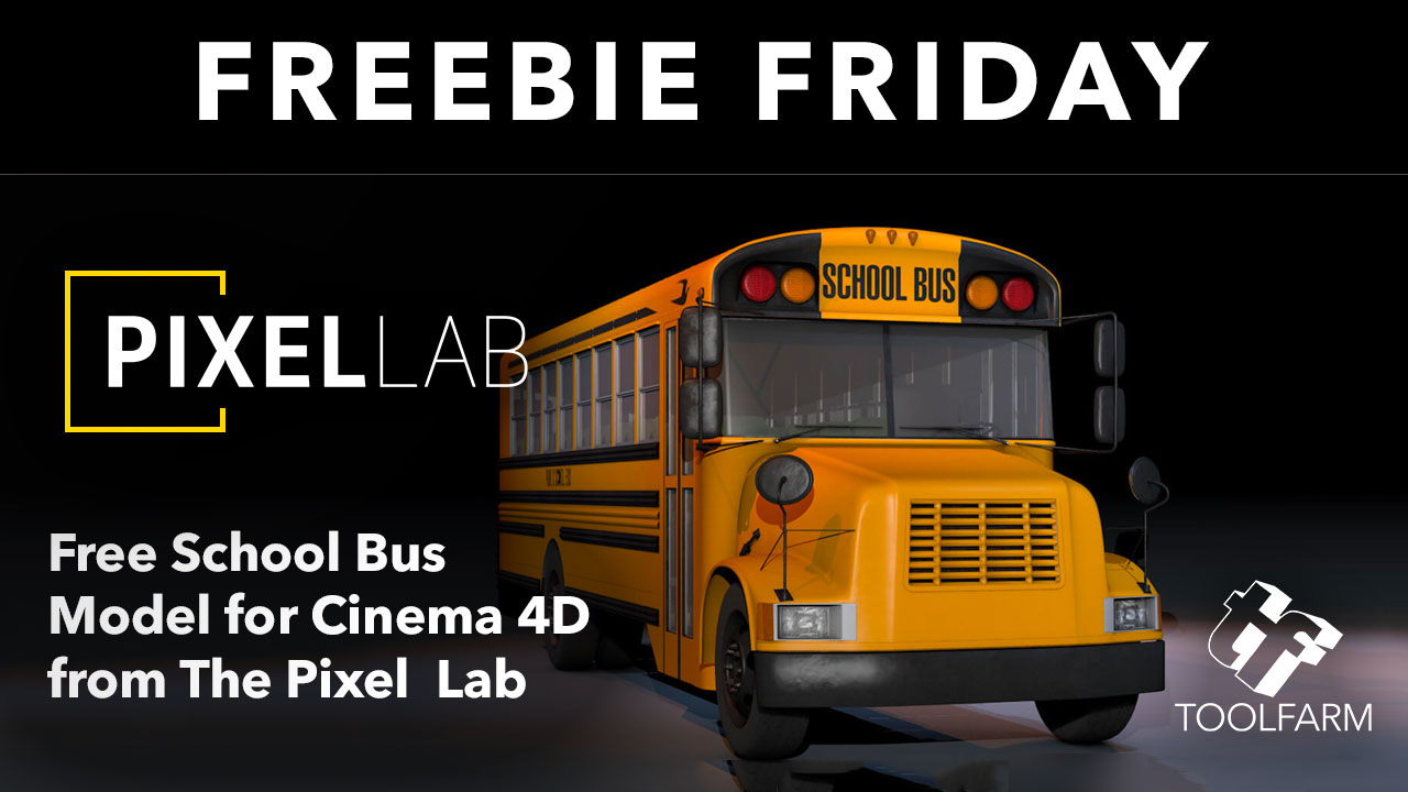 Freebie Friday: School Bus 3D Model from The Pixel Lab