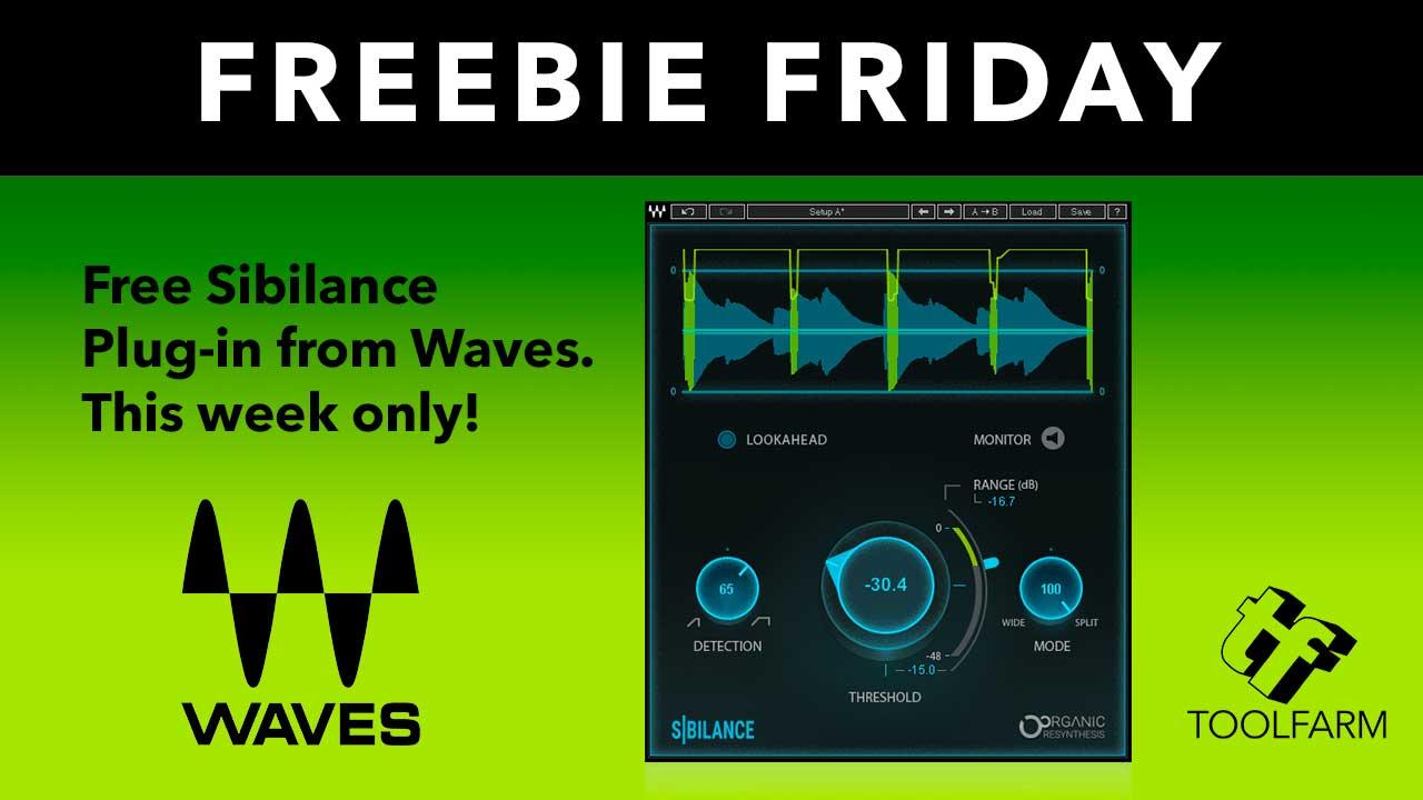 Freebie Friday: Waves Sibilance, Free through November 25 Only