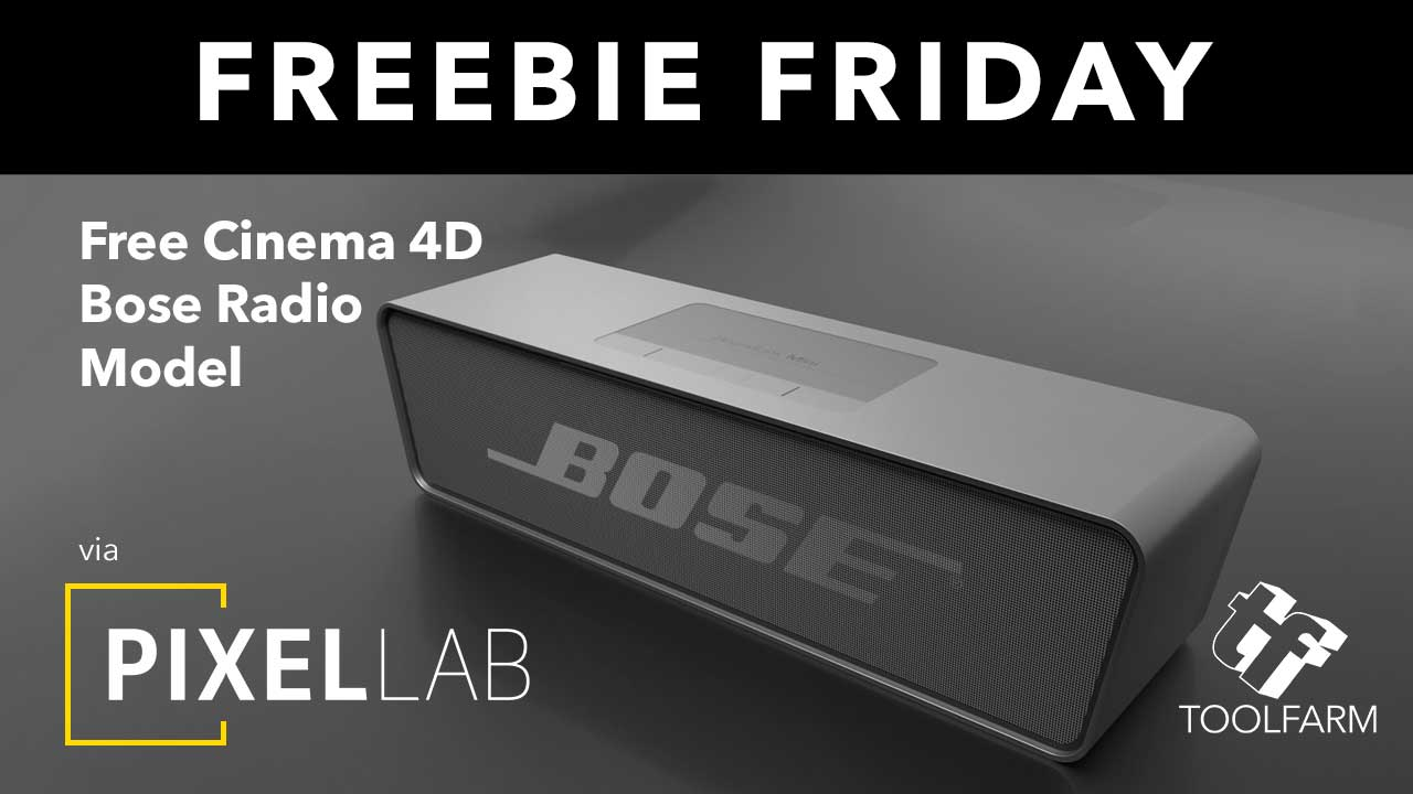 Freebie Friday: Bose Radio 3D Model from The Pixel Lab