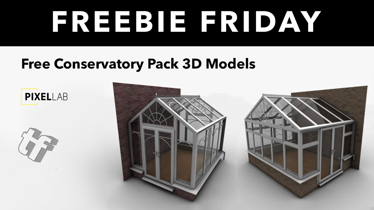 Freebie Friday: Conservatory 3D Model for Cinema 4D from The Pixel Lab