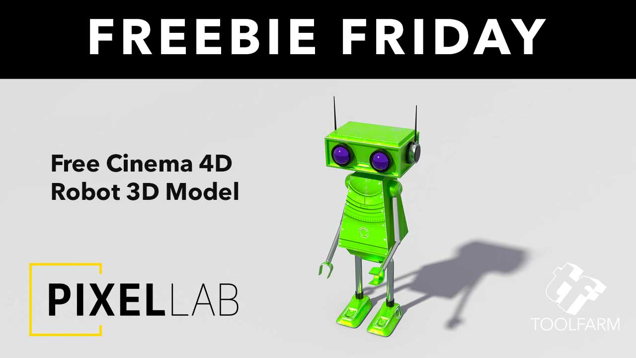 Freebie Friday: Free Robot Model for Cinema 4D