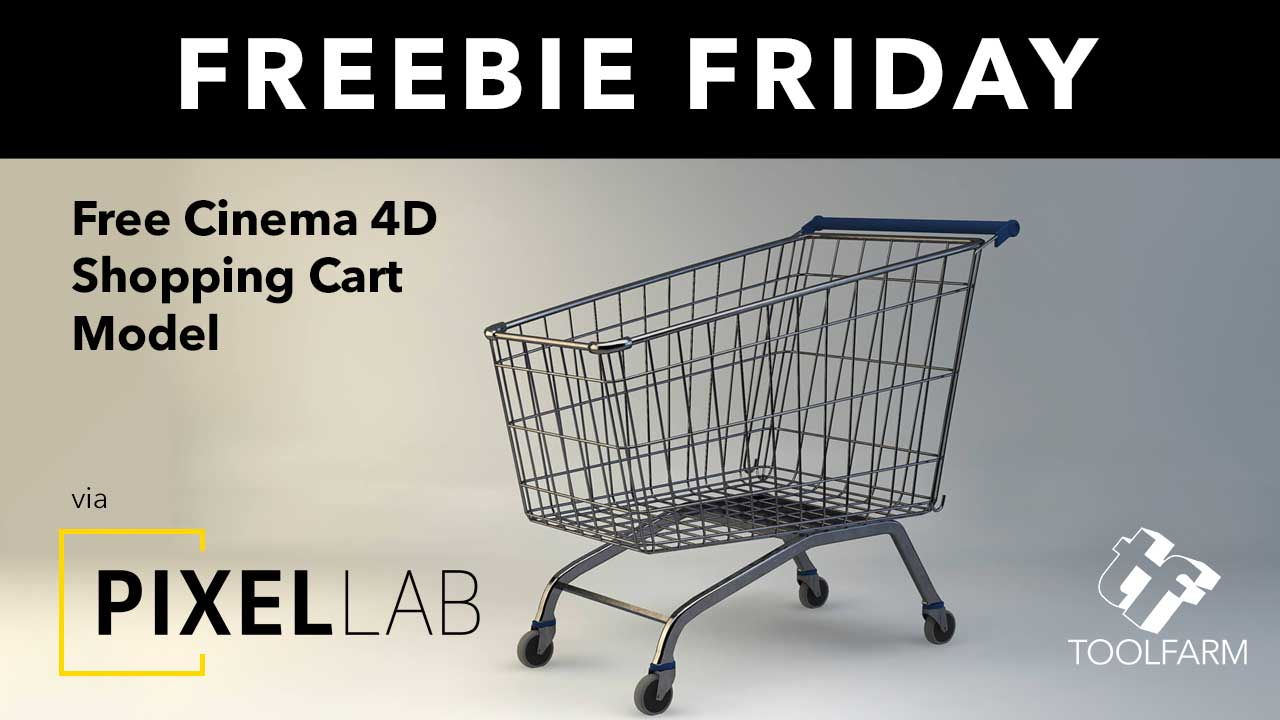 Freebie Friday: 3D Model of Shopping Cart Trolley from The Pixel Lab
