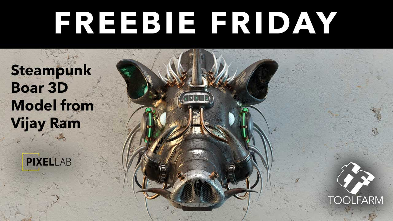 Freebie Friday: Steampunk Boar 3D Model from The Pixel Lab