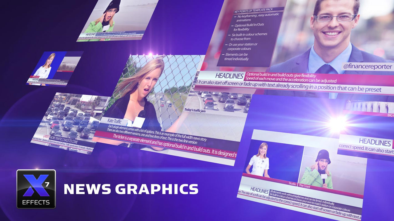 XEffects News Graphics Effects for Final Cut Pro X