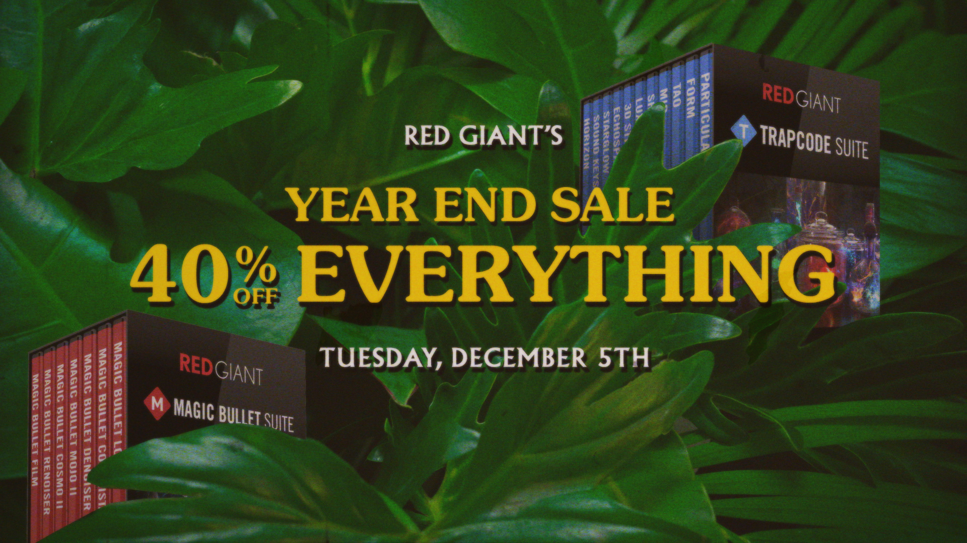News: Red Giant/Trapcode One Day Sale – 40% Off Everything – December 5th, 2017