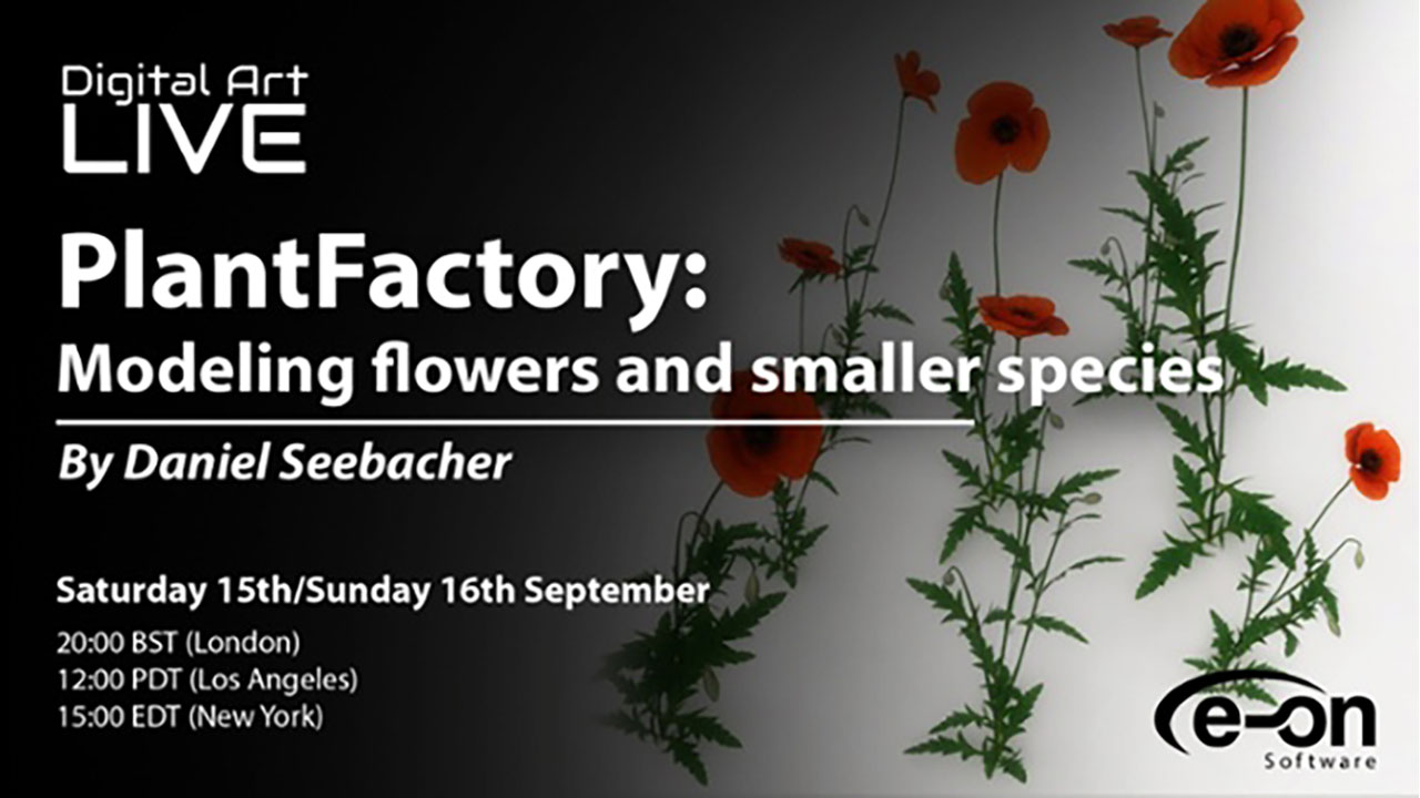 Webinar: e-on PlantFactory – Modeling Flowers and Smaller Species