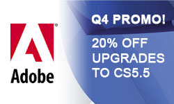 Sale: 20% Off Creative Suite products – Upgrade Promotion
