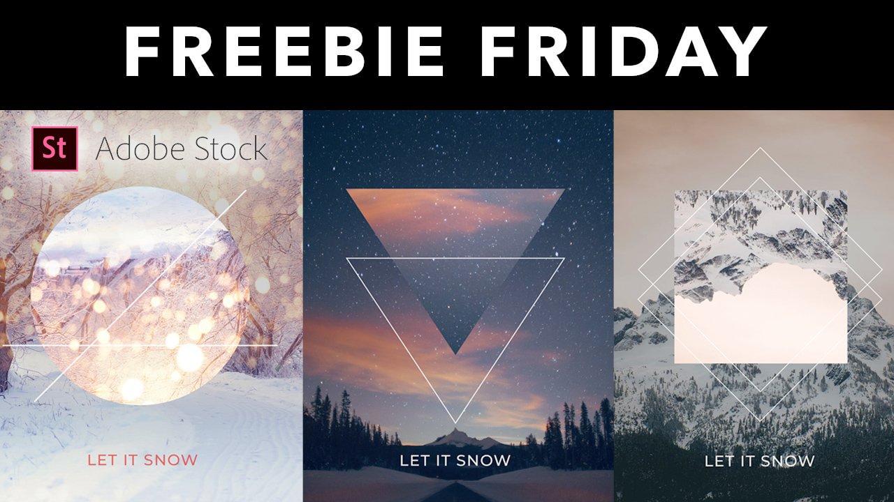 Freebie: Adobe Stock: Free Holiday Template