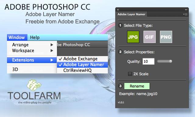 Freebie: Adobe Layer Namer for Adobe Photoshop CC
