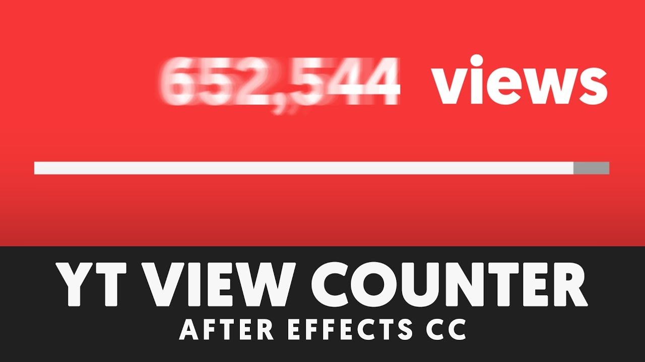 Animated Counter Numbers in After Effects