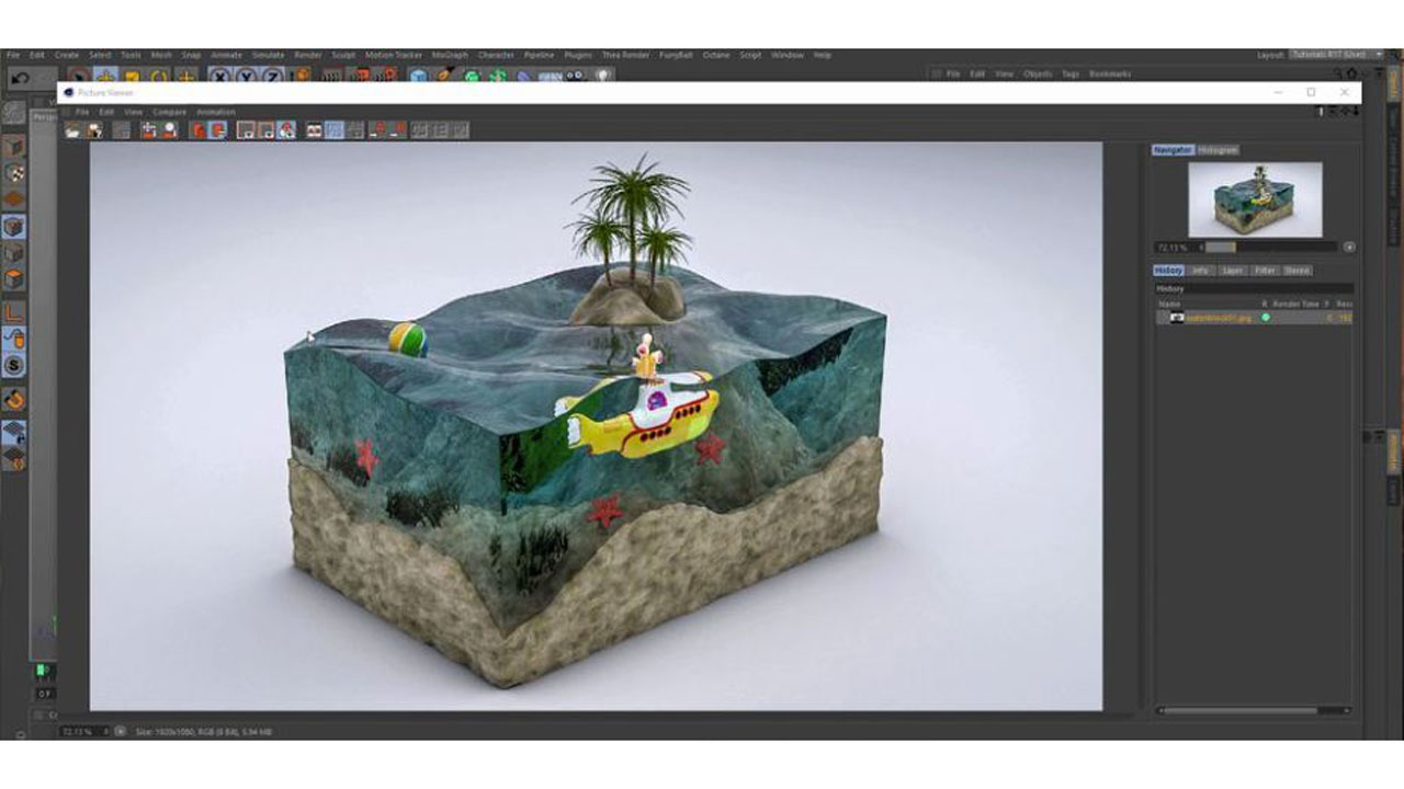 Create an Aquarium in Cinema 4D