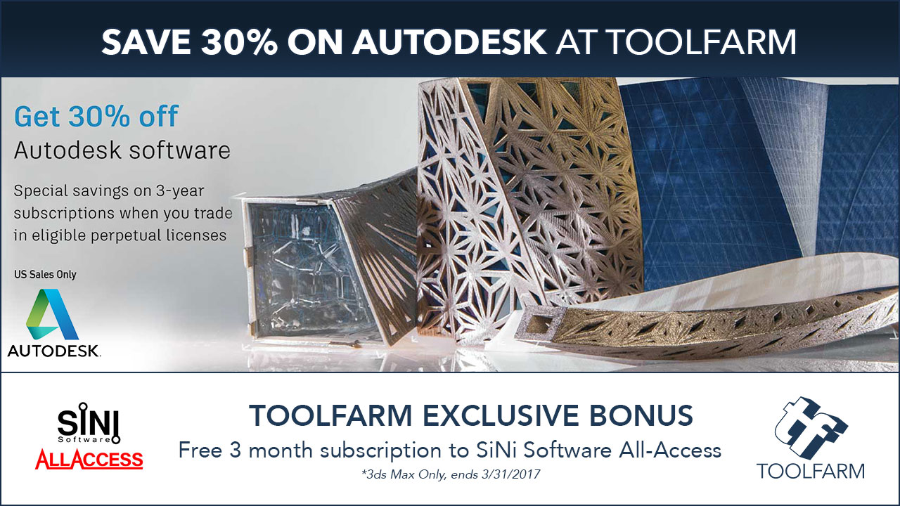 Autodesk Promo: Trade In Perpetual Licenses for 30% off 3