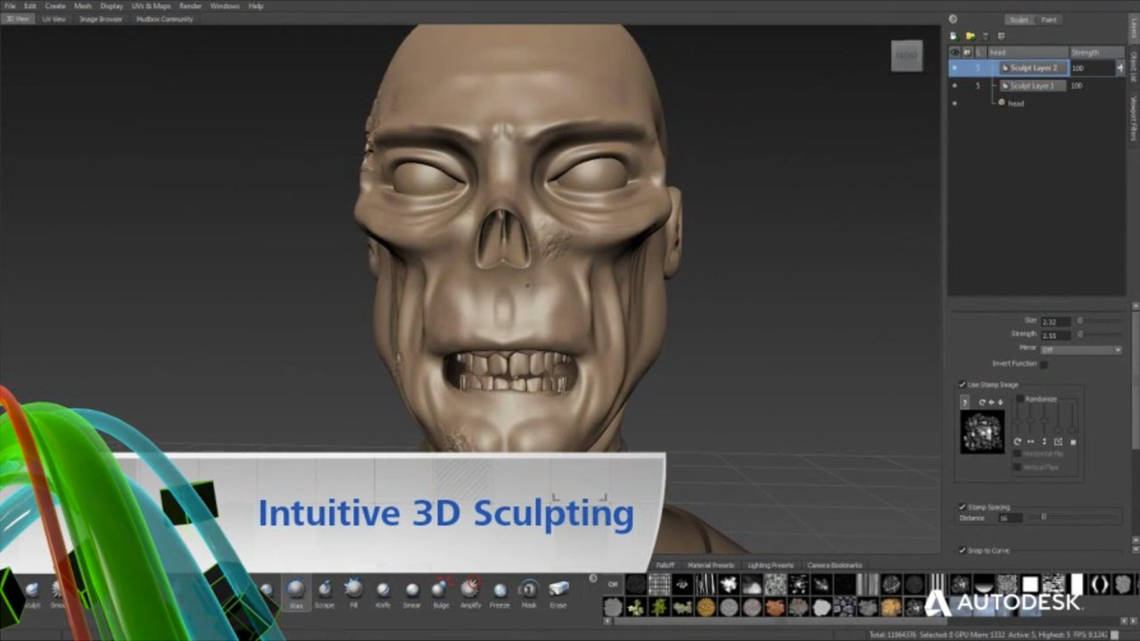 Autodesk Mudbox Digital Painting and Sculpting Software