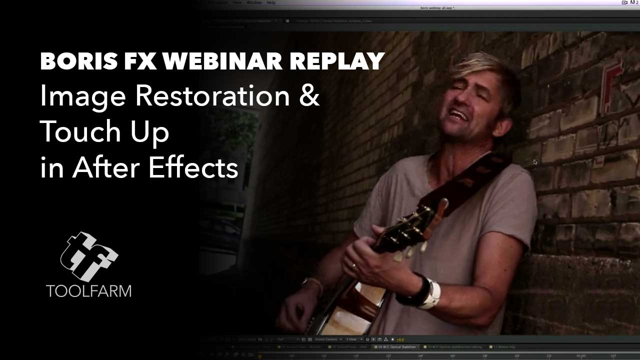 Image Restoration and Touch Up in After Effects Seminar