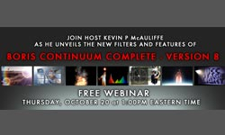 Free Live Webinar This Week: Introducing Boris Continuum Complete 8