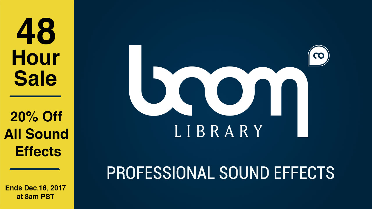 Sale: BOOM Library – 20% off Everything – 48 Hours only!