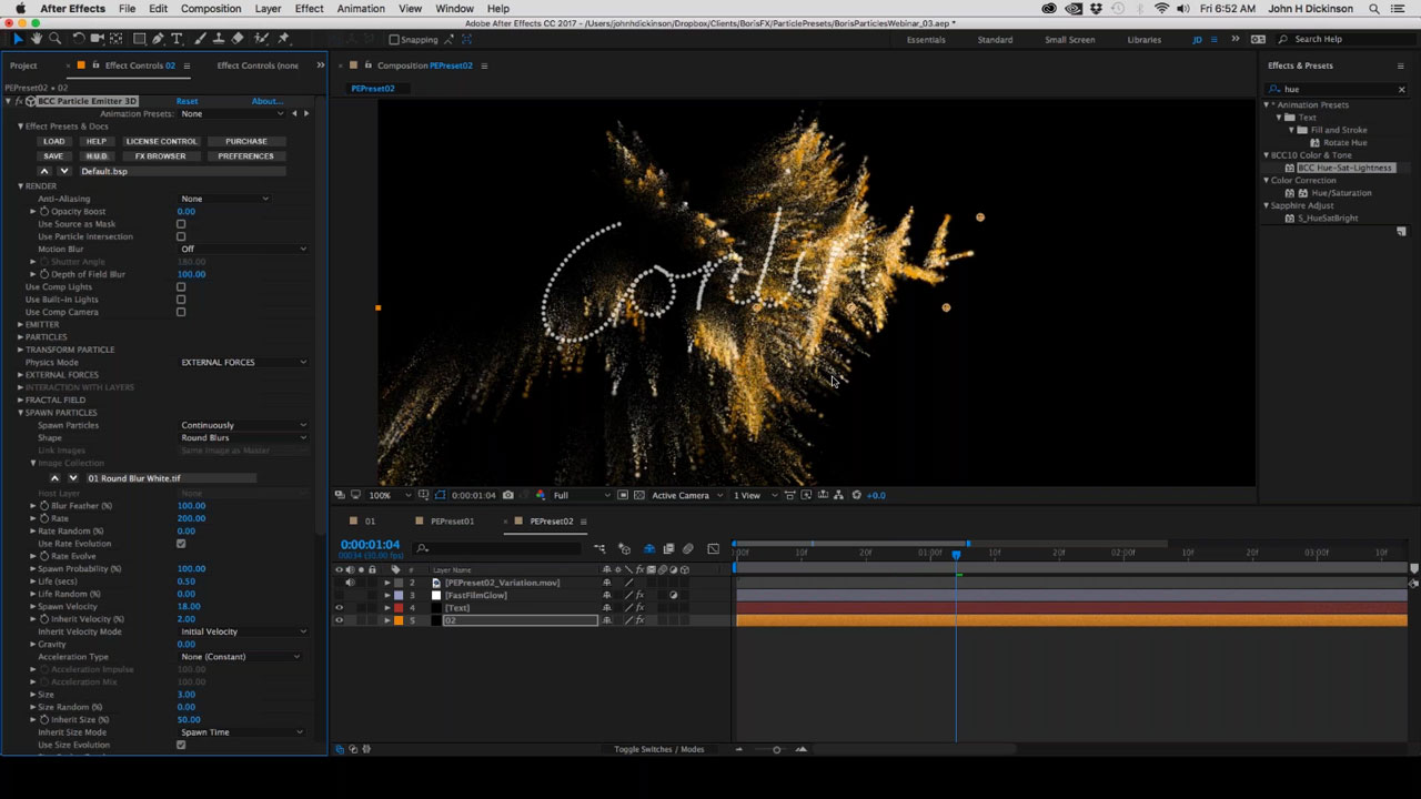 News: Webinar Replay - Next Level 3D Motion Graphics Boris